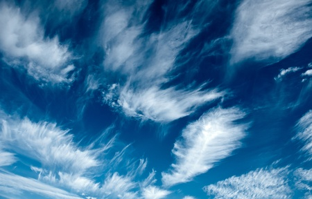 evocative: Evocative image of clouds in the blue sky of a beautiful day