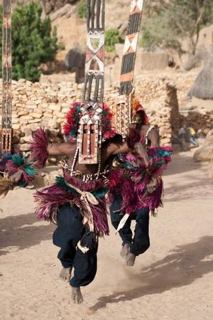 Antilop maszkot és a Dogon tánc, Mali. A dogon hívja az Antilop elfedik a Walu, úgy vélik, hogy az első sikeres vadászatot párt jött vissza egy antilop. Stock fotó