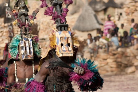 The Dogon are best known for their mythology, their mask dances, wooden sculpture and their architecture. photo