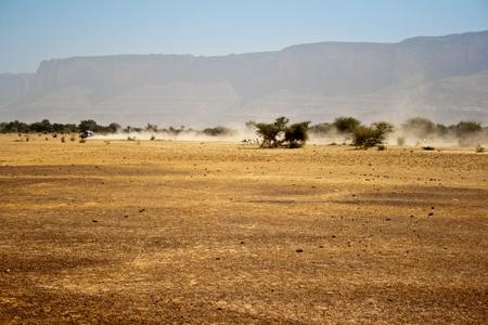 Semi-desert region of Mali (Africa), near Bandiagara Escarpment.