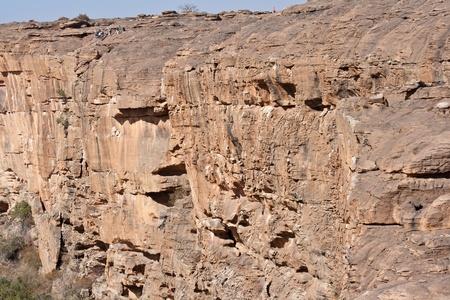 A Bandiagara magaspart egy meredek lejtő a dogon ország Mali. A Dogon a legismertebb a mitológia, a maszk táncot, fából készült szobor és az építészet. Stock fotó
