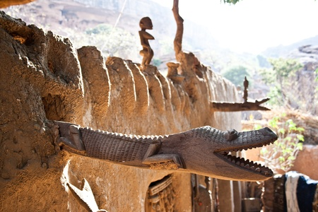 Detail of a Dogon house. The Dogon are best known for their mythology, their mask dances, wooden sculpture and their architecture.