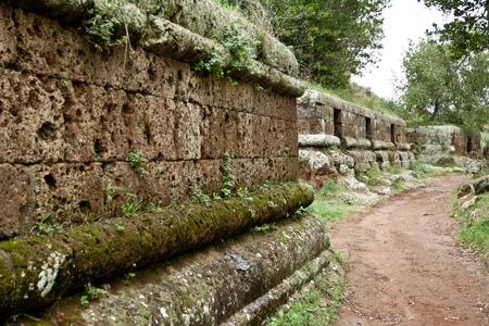 etruscan: Etruscan Necropolis of Cerveteri (Italy)