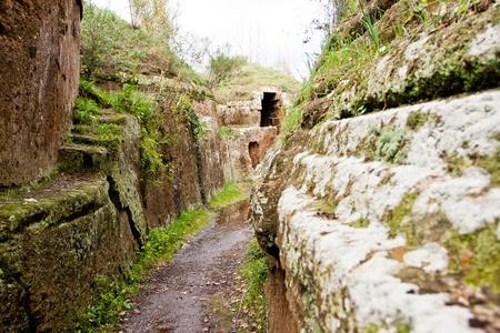 Etruszk nekropolisz az Cerveteri (Olaszország) Sajtókép