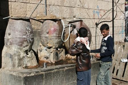 December 21, 2008 - Sanaa (Jemen), szökőkutak, a régi város.