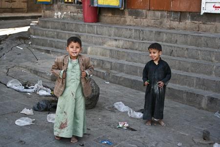 21 december 2008 - Sanaa (Jemen), a gyermekek, a régi város.