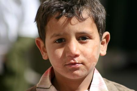 December 21, 2008 - Sanaa (Yemen), child in the old town. Editorial