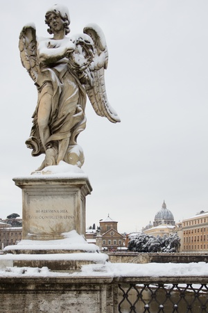 Angel With Thorn, Rome  Italy   Stock Photo