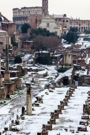 A Forum Romanum látható a Capitolium domb, Olaszország
