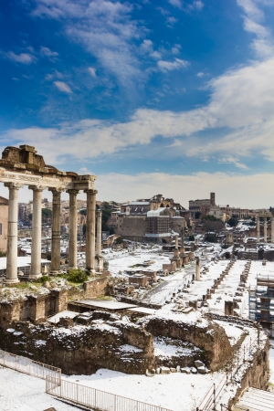 The Roman Forum, the oldest part of the city of Rome, Italy.