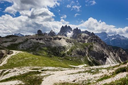 Peaks of the Dolomites of Veneto, Italy