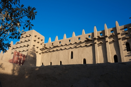 The back of the Great Mosque of Djenne, Mali, Africa