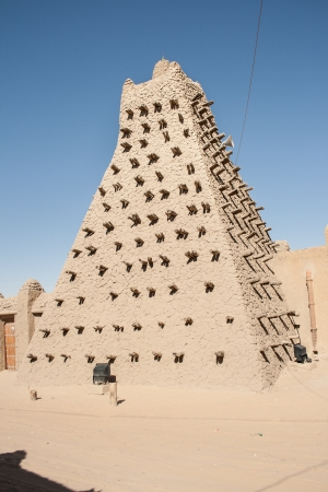 Mud brick mosque in Timbuktu, Mali, Africa