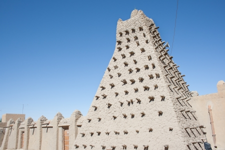 Mud brick mosque in Timbuktu, Mali, Africa  photo