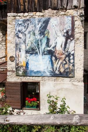 murals: The murals of Cibiana, Dolomites, Italy