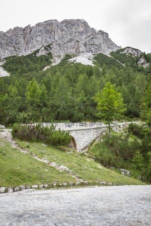 Ascending road to Vrsic pass, Slovenia