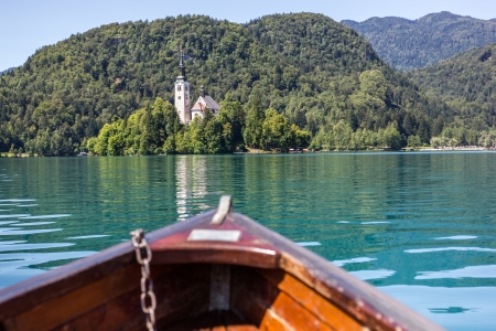 bled: View of Bled Island, Lake Bled, Slovenia