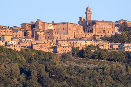 Panorama of old town of Montepulciano