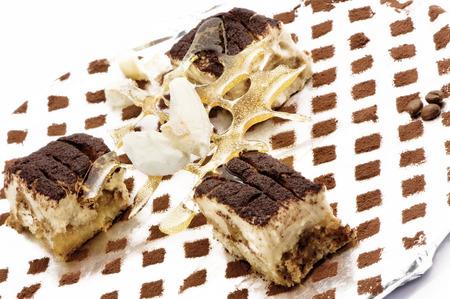 mascarpone: Delicious italian dessert with mascarpone Stock Photo