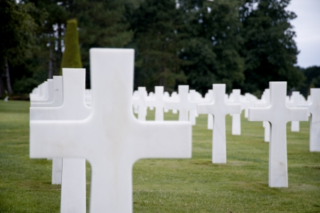 American cemetery in Normandy photo