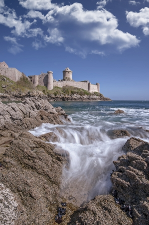 The stronghold called Fort la latte in Brittany, France photo