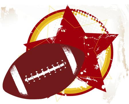 抽象的なフットボール、星空の背景