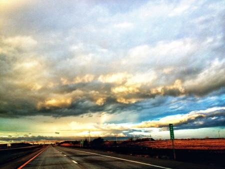 view through: Scenic view through Kansas.