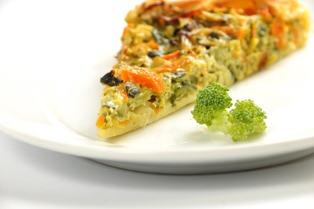 vegetable pie photographed in gallarate photo