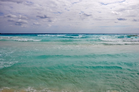 the bautiful sea turquoise of mexico photo