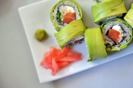 delicious kind of fresh sushi  Stock Photo
