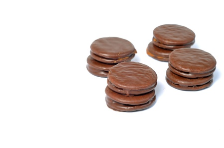 delicious alfajores on a white background Stock Photo - 18870233