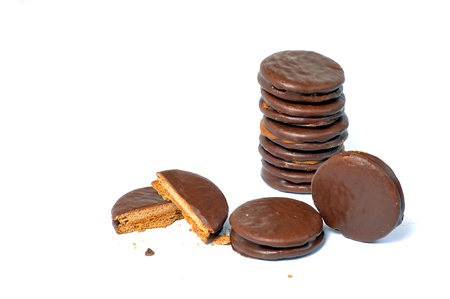 alfajores: delicious alfajores on a white background Stock Photo
