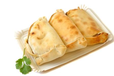 delicious chilean empanadas on a white background Stock Photo