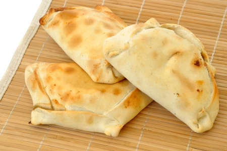delicious chilean empanadas on a white background Stock Photo