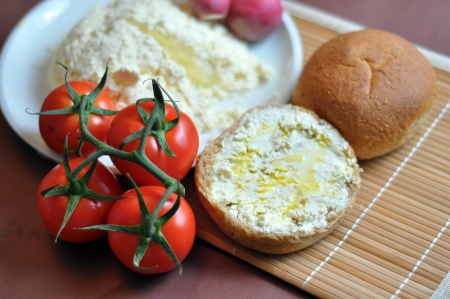 artisanal: the delicious homemade ricotta and bread