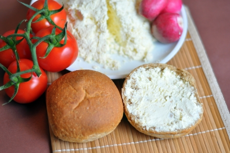 the delicious homemade ricotta and bread