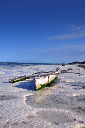 boats and sea of zanzibar Stock Photo