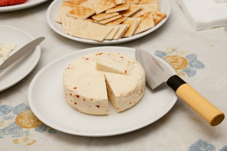 delicious homemade cheese ready to be eated Stock Photo