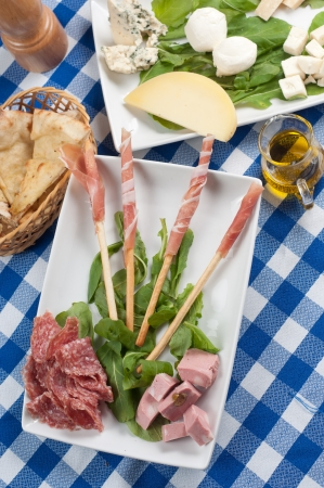 tasty and delicious appetizer of cold cuts