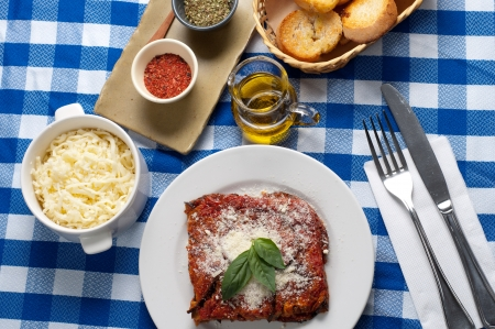 the delicious and tasty italian Eggplant Parmesan