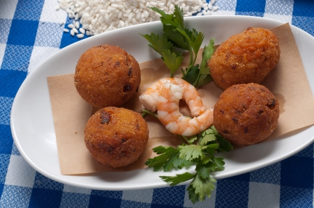 tasty and delicious fried  suppli of shrimps