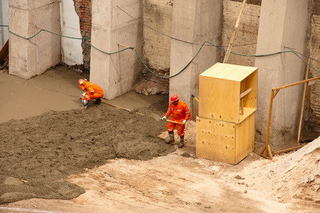 men at work during a hard work