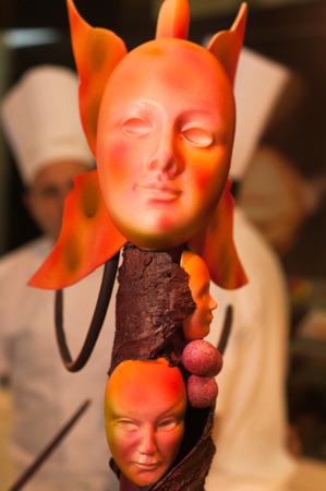 sculptures of chocolates