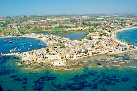 View aerial of Marzamemi