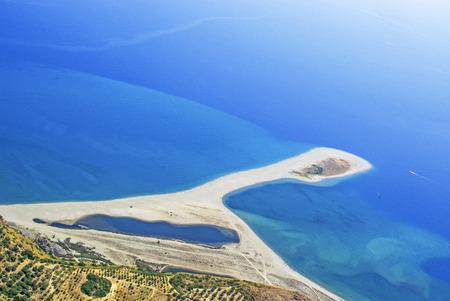 Aerial view of beach in Sicily Tindari Banco de Imagens