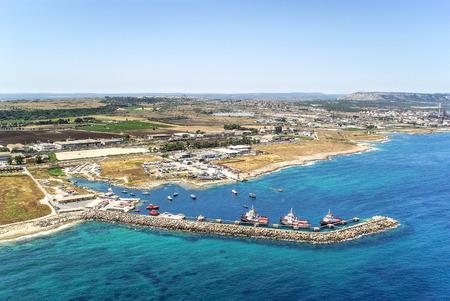 Industrial area of ??Syracuse Sicily