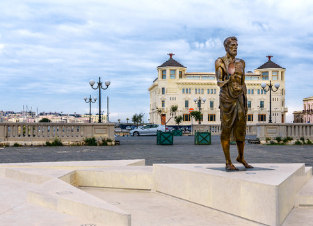 Archimedes Statue and Ortea Palace Luxury Hotel 写真素材