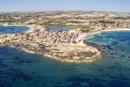 Aerial view of Marzamemi, Sicily Stock Photo