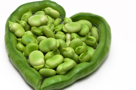 groping: Green beans composition to heart 04