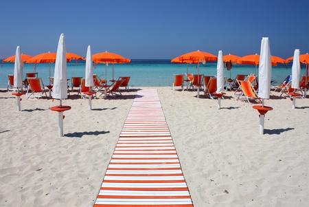 Beach umbrellas and Stock Photo